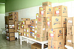Secretaria de Saúde  recebe medicamentos